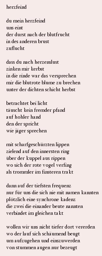 Gedicht über kennenlernen