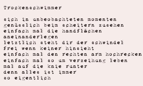 - ein neues Gedicht -