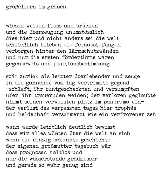 Gedicht Wre dies mein letztes Gedicht von Rita Rettweiler